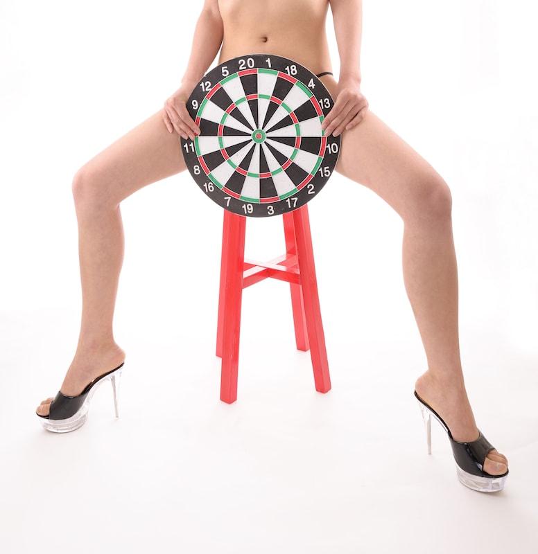 target covering woman's vulva